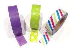 purple Washi tape set, green japanese washi tape , stripped , Japanese Masking Tape , masking tape , mt washi tape , pattern washi tape