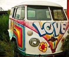 hippie vw bus