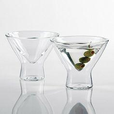 Steady-Temp Martini Glasses (Set of 4) - Wine Enthusiast $40