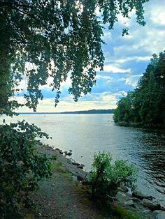 A lakeside view at Kaivannon kanava, Kangasala, Finland