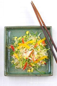 콩나물무침 (콩나물샐러드)~ 이색콩나물무침, 콩나물요리 : 네이버 블로그 K Food, Korean Food, Salad Dressing, Sushi, Appetizers, Cooking, Tableware, Recipes, Food Food
