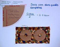 Saia com dois godês completos: como fazer? - Industria Textil e do Vestuário - Textile Industry - Ano VI