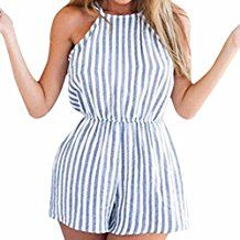 Cheap backless playsuit, Buy Quality party jumpsuit directly from China playsuit bodycon Suppliers: Factory Price! Women Clubwear Halter Backless Playsuit Bodycon Party Jumpsuit Romper Trousers Asian Size S M L XL Backless Playsuit, Playsuit Romper, Romper Swimsuit, Halter Jumpsuit, Romper Outfit, Short Jumpsuit, Casual Jumpsuit, Swimsuit Cover, Striped Playsuit