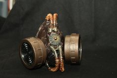 Brown Weathered Steampunk Mask by Sector9Industrial on Etsy, $30.00