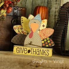 Give Thanks {Turkey}. $9.99.  Thanksgiving wood crafts                                                                                                                                                                                 More Thanksgiving Wood Crafts, Fall Wood Crafts, Thanksgiving Decorations, Holiday Crafts, Thanksgiving Turkey, Fall Decorations, Holiday Fun, Holiday Ideas, Outdoor Thanksgiving
