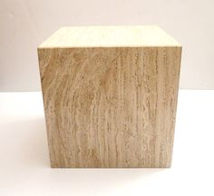 Square Cube Marble Base with Beveled Edge Corners Cocktail or End Table image 2