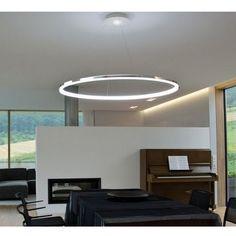 Hot LED Rings Pendant Light Circles Ceiling Lamp Dining Room Chandelier Lighting #ModernContemporary