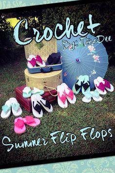 Crochet Summer Flip Flops