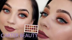 Hey glam squad, Hope you all enjoy this eye makeup look using the carter beauty palette, I uploaded a look with this palette last year and it was requested b. Brown Makeup, Eye Makeup, Makeup Lessons, Makeup Brushes, Squad, Makeup Looks, Lashes, Palette, Lipstick