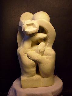 Ruce-držím tě , opuka , výška 25,5 cm , prodejné Lion Sculpture, Statue, Art, Craft Art, Kunst, Gcse Art, Sculpture, Art Education Resources, Sculptures