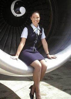 happy cabin crew girl. #flightattendant
