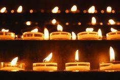 Prayer Candles in St. Giles Church, Royal Mile, Edinburgh, Scotland