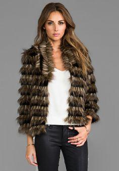 heartLoom Sydney Faux Fur Coat in Brown