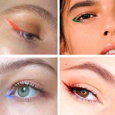 Make Divertida: Delineado Colorido Elf Makeup, Makeup Art, Beauty Makeup, Hair Makeup, Prom Makeup, Eyeshadow Makeup, Devil Makeup, Homecoming Makeup, Dress Makeup