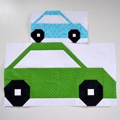 Car Quilt BLOCK Pattern PDF Instant Download baby quilt
