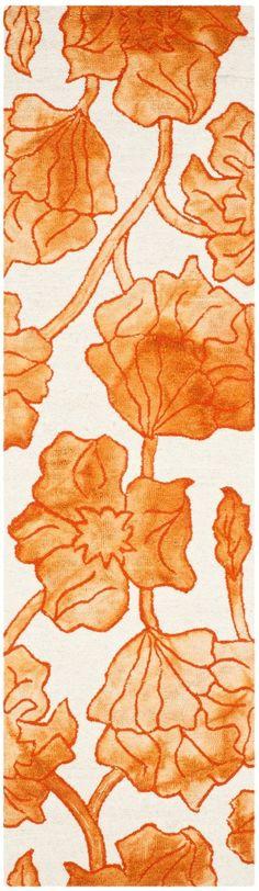 Millie Hand-Tufted Ivory/Orange Area Rug