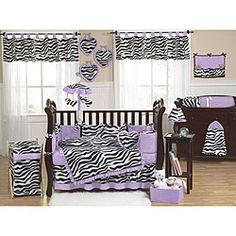 @Overstock - This nine-piece baby bedding set by JoJo Designs will help you create a stunning room for your child.  This set will fit all standard cribs and toddler beds, and is machine washable for easy care and repeated use.http://www.overstock.com/Baby/Funky-Zebra-9-piece-Crib-Bedding-Set/5735492/product.html?CID=214117 $189.99