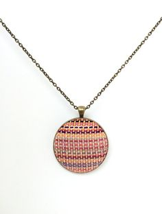Handwoven wrap scrap necklace by MaMoose Creations (Lava Wrap) by mamoosecreations. Explore more products on http://mamoosecreations.etsy.com