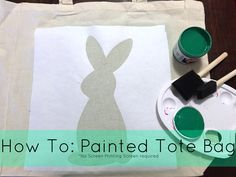 Painted Tote Bag Tutorial