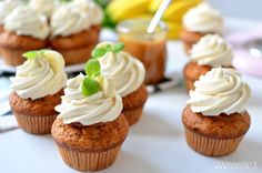 Babeczki bananoffee / Bananoffee cupcakes