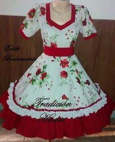 Fotos de vestidos de huasa Dance Outfits, Dance Dresses, Summer Dresses, Estilo Retro, Looking For Women, Kurti, Beautiful Dresses, Chiffon, Two Piece Skirt Set