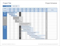 ms project scheduler sample resume Project Management Templates for Excel