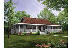 Fabulous Single Story House Plans With Wrap Around Porch Decorating ...