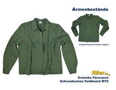 Schwedisches Feldhemd M70 - 1/1 Arm A/B Bundeswehr Shop Räer Hildesheim