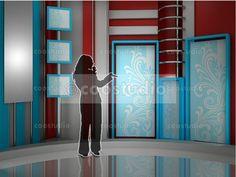 virtual set volume 4 Virtual Studio, Shelves, Curtains, Tv, Home Decor, Crafts, Room Decor, Shelf, Shelving