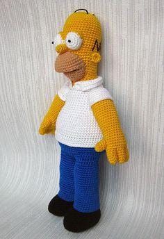 Ravelry: Homer Simpson Crochet Toy pattern by Anna Vozika--$10 pattern