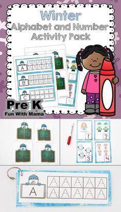 This preschool, prek and kindergarten number, shapes and alphabet alphabet letter pre-writing and tracing activity set includes uppercase and lowercase alphabet matching, puzzles and counting activities. Educational Activities For Toddlers, Printable Activities For Kids, Counting Activities, Letter Activities, Preschool Activities, Numbers Kindergarten, How To Start Homeschooling, Learning The Alphabet, Pre Writing