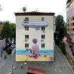 """The Boy & The Sea"" by Rustam Qbic in Kiev, Ukraine"