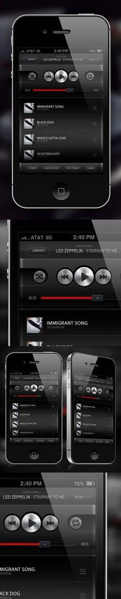 Music Player App GUI by Petr Knoll #mobile #app #digital