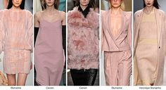DUSTY ROSE Dusty rose offers a more subdued alternative to pastel shades. Pictured here: Bluemarine, Carven, Veronique Branquinho 2015 Color Trends, 2014 Fashion Trends, 2014 Trends, Fashion Ideas, Winter Trends, Fall Winter 2014, Fall 14, Spring 2015, Fashion Colours
