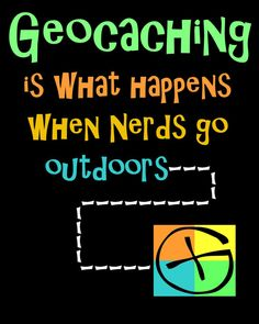 When nerd go outside... #geocaching