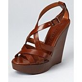 Burberry Sandals - Bridle Delamer 120 Wedge