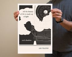Original Illustration  Leo Tolstoy quotation Fine by ObviousState, $24.00