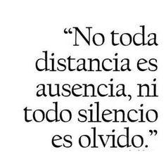 No todo silencio es olvido...
