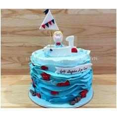 Sailor themed first birthday cake   #butikpasta #sekerhamuru #candyfirinim #sugarart #fondantcake #sailorcake #firstbirthdaycake #1yaspastasi