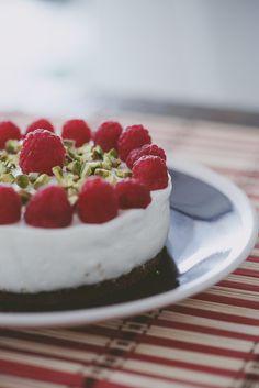 Cheesecake helado de frambuesas y pistachio #imelda #creaalgoúnico