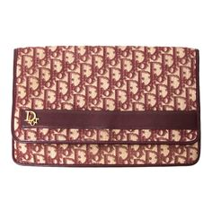 Christian Dior Bordeaux Monogram Flap Pocket Bag   From a collection of rare vintage handbags and purses at http://www.1stdibs.com/fashion/accessories/handbags-purses/