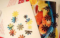 junk mail crafts - confetti