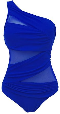 0543033baa TDOLAH Women s Plus Size Swimwear Monokini Swimsuit See Through Bikinis One  Piece Swimming Costume  Amazon