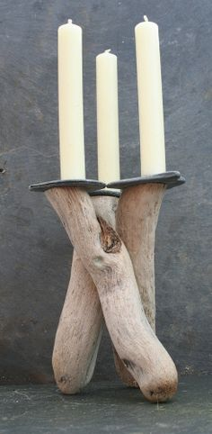 Driftwood Candle holder,Driftwood Candelabra,Driftwood candle stand,Table centre £25.00