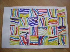 Línies verticals i horitzontals amb bastonets d'orelles Kindergarten Art Lessons, Art Lessons Elementary, Programme D'art, Trait Vertical, Classe D'art, 3rd Grade Art, Art Curriculum, Principles Of Art, Preschool Art