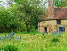 I love the cottage look of this place! A wild meadow at Cothay Manor, Somerset