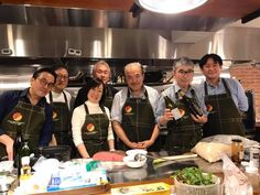 Directors of the Japan Gastronomy Association.  Best one team in Tokyo!