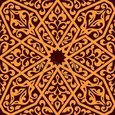 Arap sorunsuz döşeme deseni — Stok Vektör #39586355