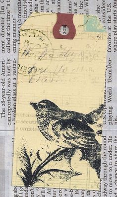 vintage bird and postcards