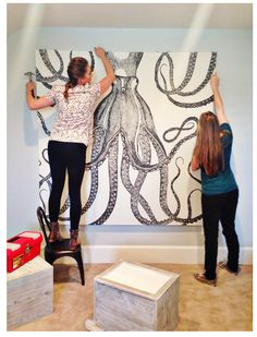 DIY Artwork that won't break the bank and makes a big statement.  The possibilities are endless.
